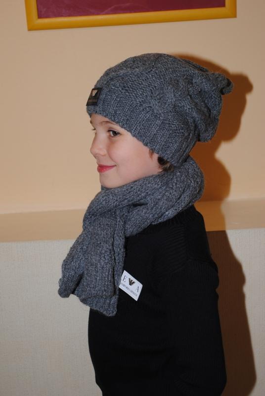 Вязание шапки для подростка и мужчины. Схема вязания 93