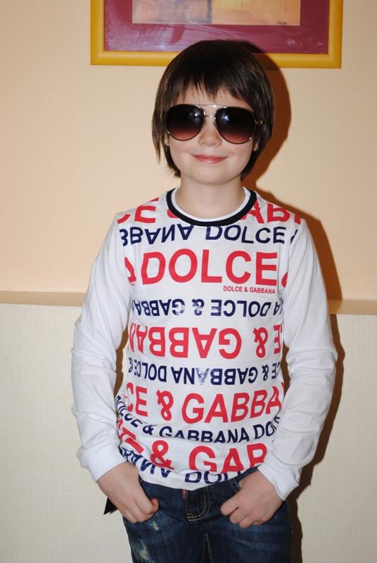 Стильный лонгслив для мальчика
