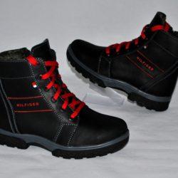 Модные стильные брендовые зимние кожаные ботинки Hilfiger для мальчика 35 размер 36 размер 37 размер 38 размер 39 размер