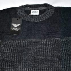 Стильный модный тёплый брендовый свитер Armani для мальчика 8 лет 9 лет 10 лет 11 лет 12 лет 13 лет 14 лет