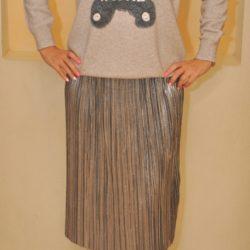 Трендовая юбка-плиссе SM , Италия