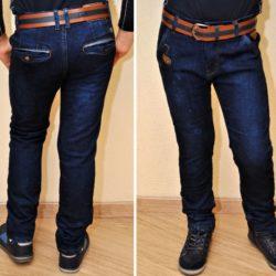 Модные стильные брендовые утеплённые на флисе джинсы Armani для мальчика 8 лет 9 лет 10 лет 11 лет 12 лет 13 лет 14 лет