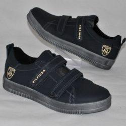 Модные стильные брендовые кожаные спортивные туфли Hilfiger для мальчика 35 размер 36 размер 37 размер 38 размер 39 размер. Полностью натуральная кожа