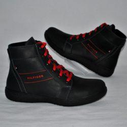 Модные стильные брендовые кожаные демисезонные ботинки Hilfiger  для мальчика 32 размер 33 размер 34 размер 35 размер 36 размер 37 размер 38 размер 39 размер. Полностью натуральная кожа, стильнючие!