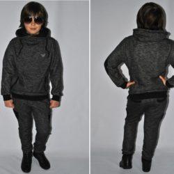 Стильный модный брендовый утеплённый спортивный костюм  Armani на флисе для мальчика 8 лет 9 лет 10 лет 11 лет 12 лет 13 лет 14 лет