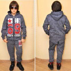 Модный стильный брендовый утеплённый спортивный костюм на флисе John Galliano для мальчика 8 лет 9 лет 10 лет 11 лет 12 лет 13 лет 14 лет.