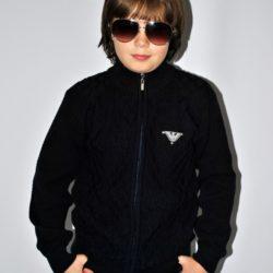 Стильный брендовый школьный свитер Armani на змейке для мальчика 6 лет 7 лет 8 лет 9 лет 10 лет 11 лет 12 лет