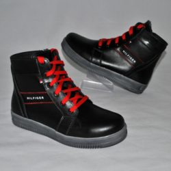 Модные стильные брендовые кожаные зимние ботинки Hilfiger для мальчика 32 размер 33 размер 34 размер 35 размер 36 размер 37 размер 38 размер 39 размер. Полностью натуральная кожа, очень стильные!
