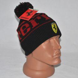 Модная стильная брендовая зимняя вязаная шапка Ferrari для мальчика 8 лет 9 лет 10 лет 11 лет 12 лет 13 лет 14 лет. Очень стильная!