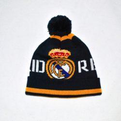 Модная стильная зимняя вязаная шапка ФК Реал Мадрид  FC  Real Madrid для мальчика 8-14 лет. Шерсть и акрил. Турция, отличное качество!