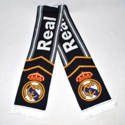 Модный  стильный  зимний вязаный шарф ФК Реал Мадрид  FC  Real Madrid для мальчика 8-14 лет. Шерсть и акрил. Турция, отличное качество!