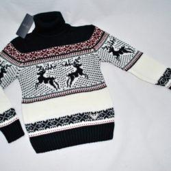 Модный стильный брендовый свитер Armani с оленями на мальчика 8 лет 9 лет 10 лет 11 лет 12 лет 13 лет 14 лет. Шерсть+акрил, тёплый ,мягкий, не колючий. Турция, отличное качество!