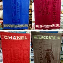 Стильные полотенца Armani, Burberry, Chanel, Lacoste 1,7*1 м . Турция, хлопок, шикарное качество! Логотип вышит.