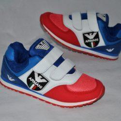 Модные брендовые кроссовки  Armani для мальчика на липучках 32 размер 33 размер