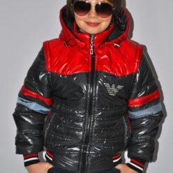 Модная стильная брендовая демисезонная куртка-трансформер Armani для мальчика 6 лет 7 лет 8 лет 9 лет 10 лет 11 лет 12 лет 13 лет 14 лет . Капюшон и рукава отстёгиваются.