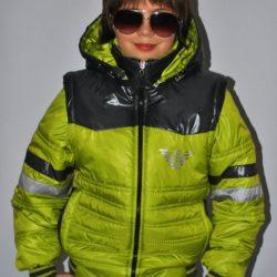 Модная брендовая демисезонная куртка-трансформер Armani для мальчика 6 лет 7 лет 8 лет 9 лет 10 лет 11 лет 12 лет 13 лет 14 лет. Капюшон и рукава отстёгиваются.