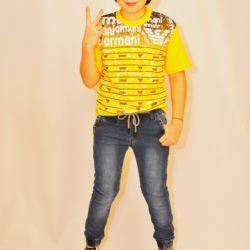 Хит сезона! Модные трендовые джинсы –джоггеры Armani с регулируемой талией со шнуром на мальчика 9 лет 10 лет 11 лет 12 лет 13 лет  14 лет.
