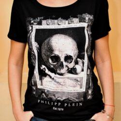 Стильная модная женская футболка Philipp Plein, M-L, Турция , хлопок, отличное качество!
