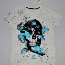 Стильная трендовая футболка Philipp Plein на мальчика 8 лет 9 лет 10 лет 11 лет 12 лет 13 лет 14 лет. Хлопок.