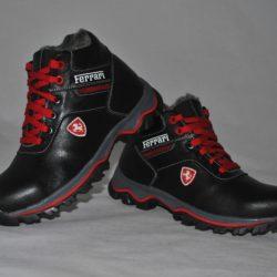 Модные брендовые зимние кожаные ботинки Ferrari для мальчиков 32 размер 33 размер 34 размер 35 размер 36 размер 37 размер 38 размер 39 размер. Верх-натуральная кожа, утеплитель-нат.шерсть, мягкие, тёплые. Турция