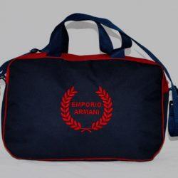 Стильная брендовая спортивная сумка Armani . Турция. Размеры: ширина 47 см, высота 30 см, глубина 20 см. Материал-плотный непромокаемый полиэстер. Внутри-два отсека. Снаружи –два отсека . Подойдёт для занятий всеми видами спорта.