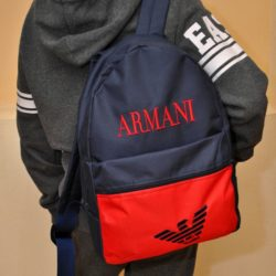 Модный стильный брендовый рюкзак Armani