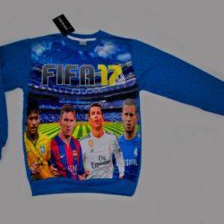 Модный брендовый реглан Armani FIFA с Месси, Рональдо, Неймаром для мальчиков 7-12 лет. Турция, хлопок