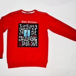 Модный стильный брендовый реглан John Galliano для мальчиков 9 лет 10 лет 11 лет 12 лет 13 лет 14 лет. Турция, хлопок.