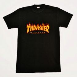 Модная трендовая футболка Thrasher для мальчиков 12 лет 13 лет 14 лет 15 лет 16 лет . Турция,хлопок