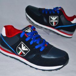 Модные брендовые  брендовые кроссовки Armani для мальчика 35 размер 36 размер 37 размер 38 размер 39 размер 40 размер .