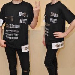 Модная стильная футболка John Galliano для мальчиков 10 лет 11 лет 12 лет 13 лет 14 лет 15 лет. Турция, хлопок