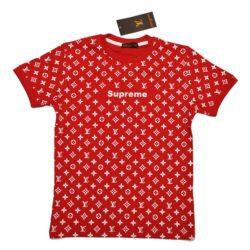 Трендовая футболка Supreme Louis Vuitton для мальчиков 9-14 лет. Турция, хлопок
