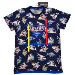 Модная брендовая футболка Armani для мальчиков 10 лет 11 лет 12 лет 13 лет 14 лет 15 лет . Турция , хлопок.