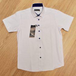 Стильная брендовая белая школьная рубашка Armani с коротким рукавом для мальчиков 7 лет 8 лет 9 лет 10 лет 11 лет 12 лет 13 лет 14 лет. Турция, хлопок