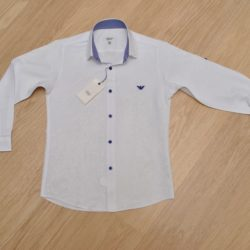 Стильная брендовая белая школьная рубашка Armani для мальчиков 8 лет 9 лет 10 лет 11 лет 12 лет 13 лет 14 лет. Турция, хлопок, отличное качество!