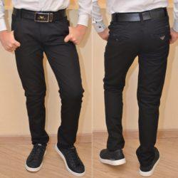 Стильные чёрные школьные джинсы Armani для мальчиков   11 лет 12 лет 13 лет 14 лет 15 лет . Турция, хлопок, отлично сидят!