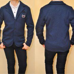 Стильный брендовый школьный синий пиджак Armani для мальчика  8 лет 9 лет 10 лет 11 лет 12 лет 13 лет. Турция, трикотаж, отличное качество!