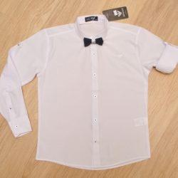 Белая школьная рубашка Armani с бабочкой и длинным рукавом для мальчиков 10 лет 11 лет 12 лет 13 лет 14 лет. Турция, хлопок
