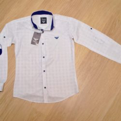 Стильная белая школьная рубашка с длинным рукавом Armani  для мальчиков 9 лет 10 лет 11 лет 12 лет 13 лет 14 лет. Турция, хлопок, отличное качество!