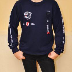 Утеплённый  свитшот толстовка  Philipp Plein  для мальчиков 8 лет 9 лет 10 лет 11 лет 12 лет 13 лет 14 лет. Турция