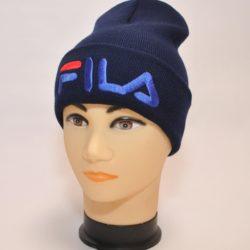 Трендовая шапка FILA для мальчиков 10 лет 11 лет 12 лет 13 лет 14 лет , шерсть+акрил, Турция