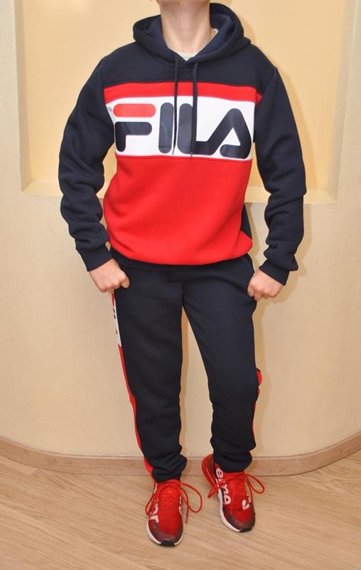 d0ec0235 ... Модный утеплённый спортивный костюм FILA на флисе для мальчиков 8 лет 9  лет 10 лет 11 ...