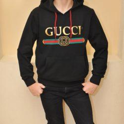 Утеплённая  худи кофта с капюшоном кенгурушка Gucci для мальчиков 9 лет 10 лет 11 лет 12 лет 13 лет 14 лет 15 лет. Турция