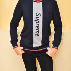 Модный стильный брендовый реглан Supreme для мальчиков 9 лет 10 лет 11 лет 12 лет 13 лет 14 лет .Турция, хлопок
