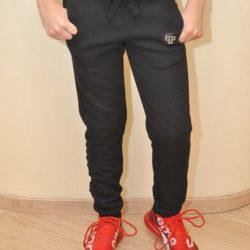 Стильные утеплённые спортивные штаны Philipp Plein на флисе для мальчиков 9 лет 10 лет 11 лет 12 лет