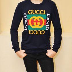 Модный трендовый реглан Gucci  для мальчиков  9 лет 10 лет 11 лет 12 лет 13 лет 14 лет .Турция, хлопок.