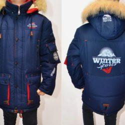 Модная зимняя куртка Armani для мальчиков  8 лет 9 лет 10 лет 11 лет 12 лет 13 лет 14 лет. Утеплитель холофайбер, меховая подкладка, капюшон и мех отстёгиваются