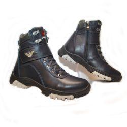 Высокие зимние кожаные ботинки Armani для мальчиков  32 размер 33 размер 34 размер 35 размер 36 размер 37 размер 38 размер 39 размер. Полностью натуральная кожа, утеплитель нат. мех, толстая подошва, супинатор, Турция!