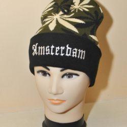 Модная шапка Amsterdam , принт конопля, для мальчиков 8 лет 9 лет 10 лет 11 лет 12 лет 13 лет 14 лет 15 лет. Турция, шерсть+акрил