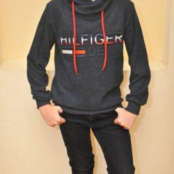 Утеплённый свитшот толстовка  Hilfiger на флисе  для мальчиков 10 лет 11 лет 12 лет 13 лет 14 лет . Турция